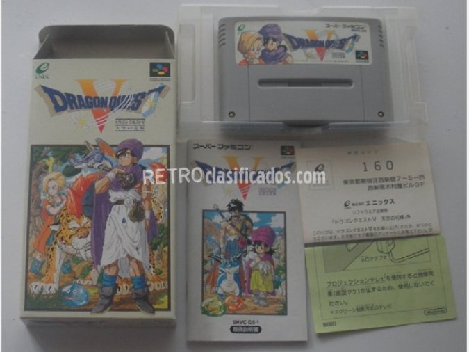 DRAGON QUEST V para SUPER NINTENDO