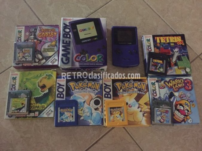 Pack GAME BOY color + 6 juegos