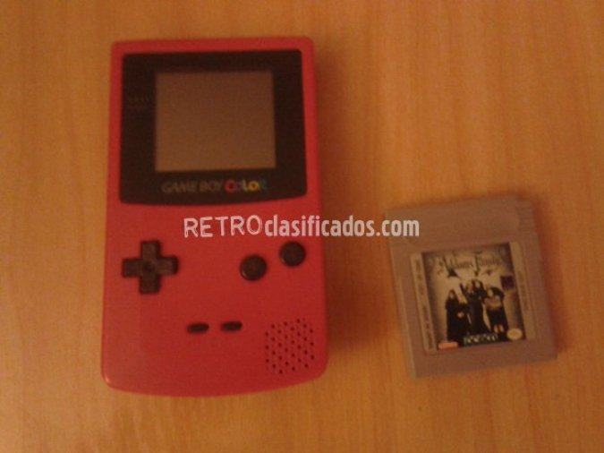 Gameboy color con juego Addams family