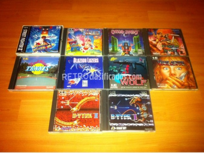JUEGOS ORIGINALES PC ENGINE TURBOGRAFX