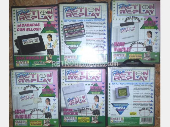 ACTION REPLAY MEGADRIVE-SUPERNES-GAMEBOY