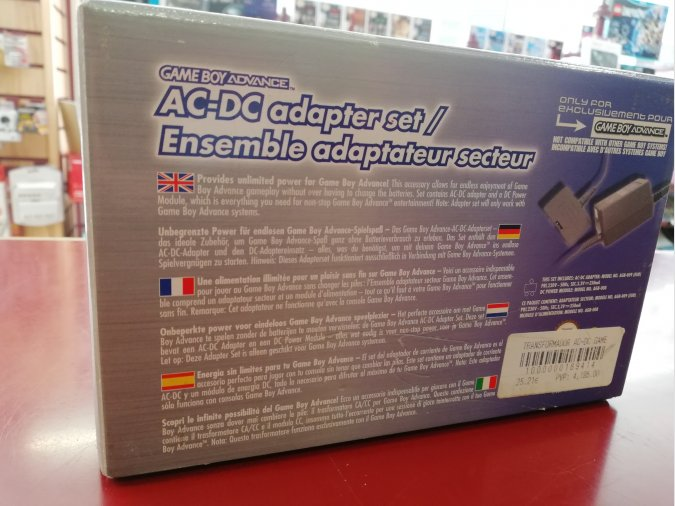 AC-DC ADAPTADOR CORRIENTE GAMEBOY ADVANCE (NUEVO)