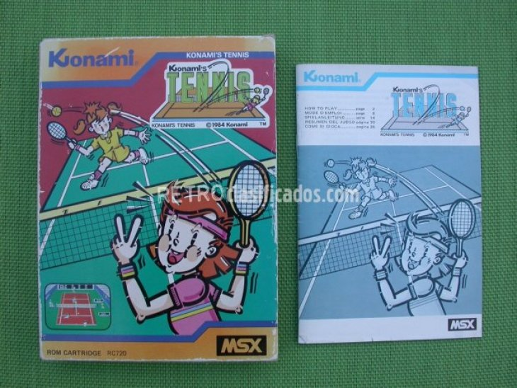 Caja+Manual Konami's Tennis 1