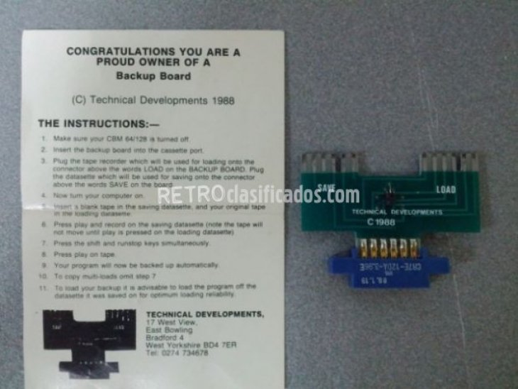Backup Board CBM 64/128