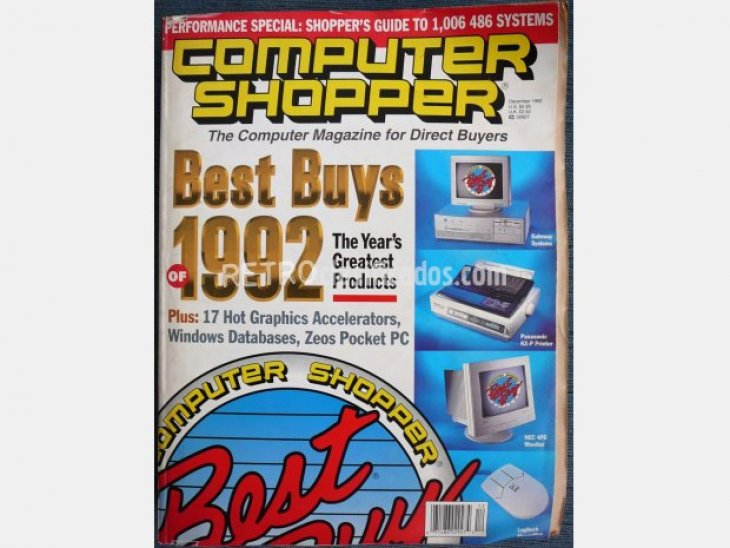 Revista americana. Computer Shopper.1992 1