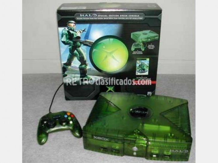 xbox verde crystal halo edition