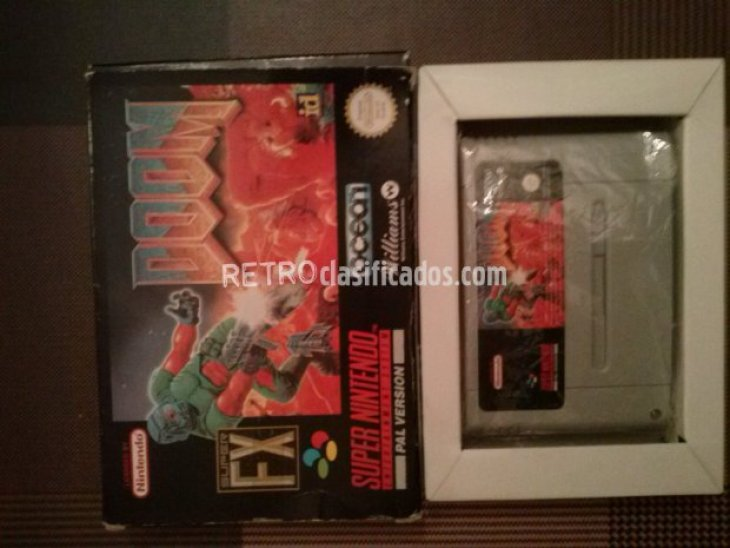 DOOM  EN CAJA Y MANUAL SUPERNINTENDO 1
