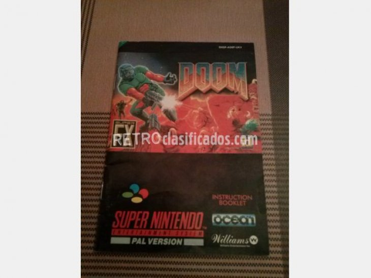 DOOM  EN CAJA Y MANUAL SUPERNINTENDO 2