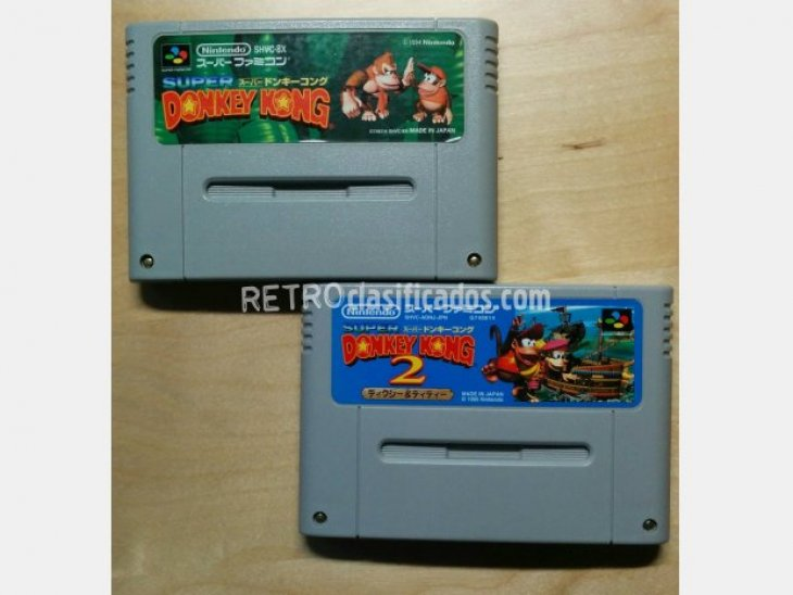 Pack 2 cartuchos Donkey Kong SFC 1
