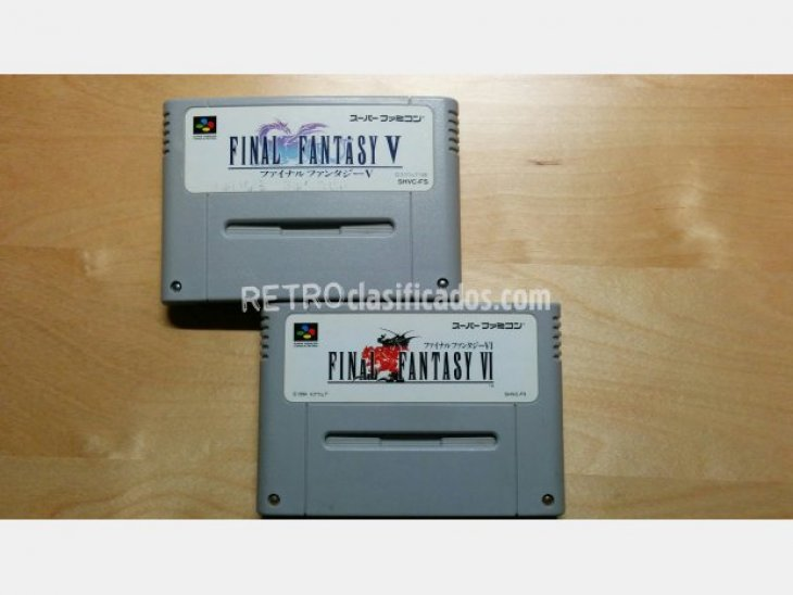 Pack 2 cartuchos Final Fantasy V i VI 1