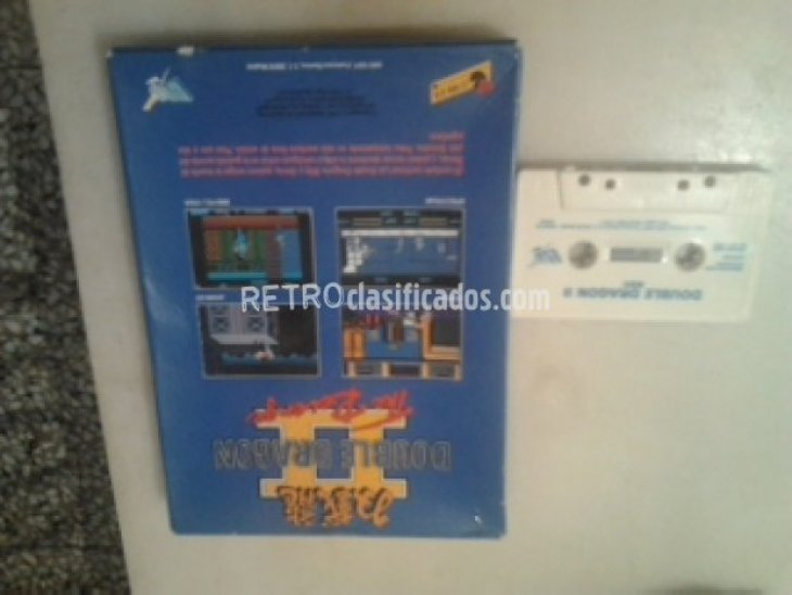 DOUBLE DRAGON II MSX CAJA GRANDE 3