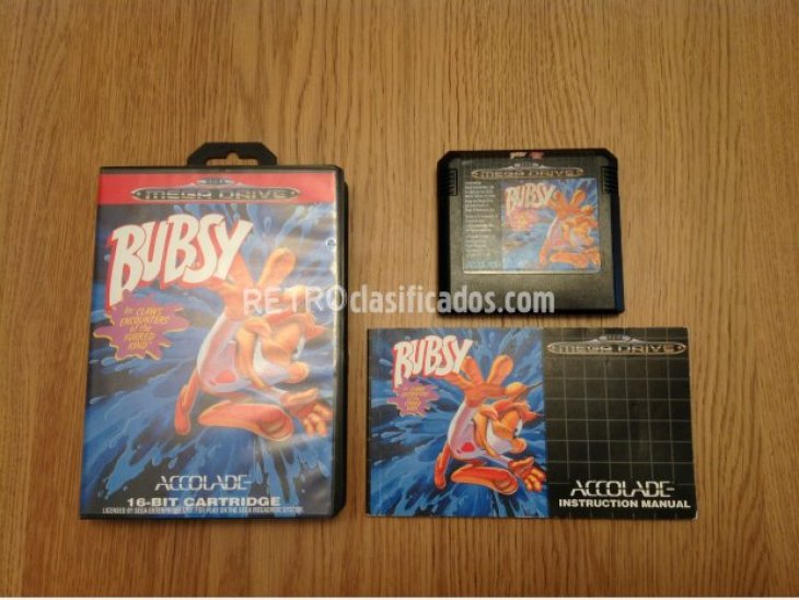 BUBSY THE BOBCAT MEGADRIVE PAL COMPLETO