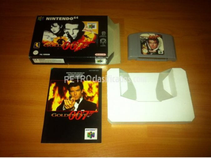 007 Golden Eye juego original N64