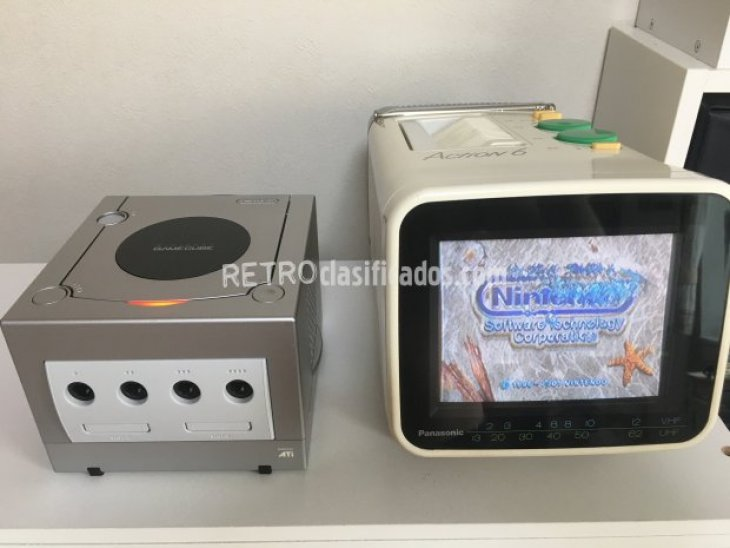 Nintendo Gamecube japonesa color plata 1