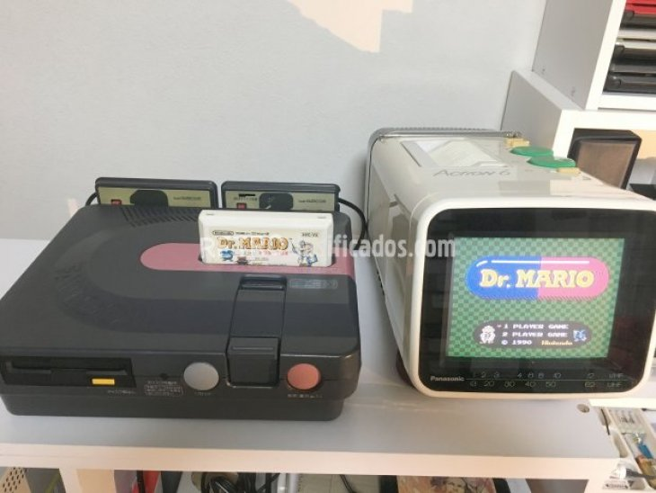 Sharp Twin Famicom negra 2