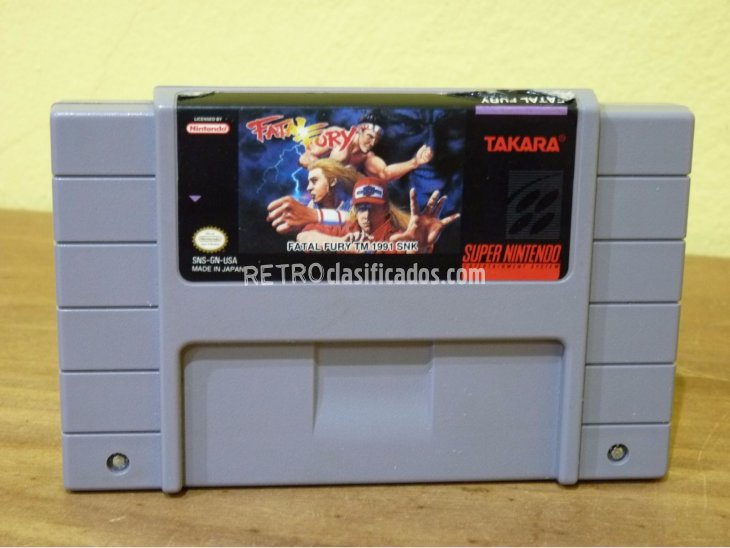 FATAL FURY SNES NTSC USA 1