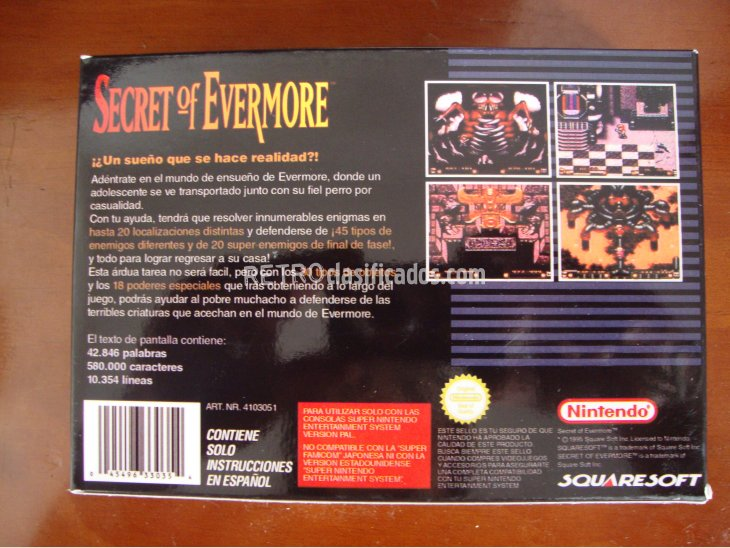 SECRET OF EVERMORE SNES 2