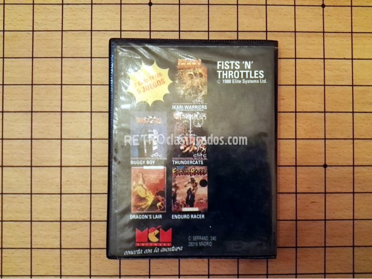 pack de juegos Fists 'n' Throttles para Spectrum 2