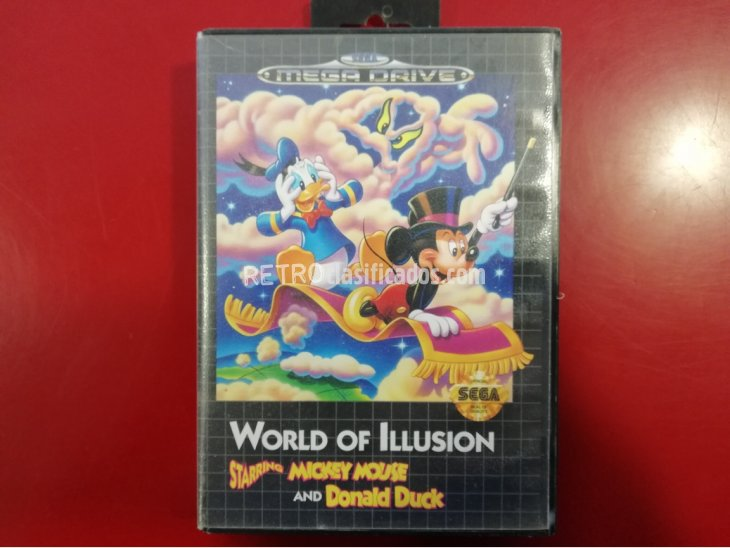 JUEGO MEGA DRIVE WORLD OF ILLUSION MICKEY MOUSE AND DONALD 1