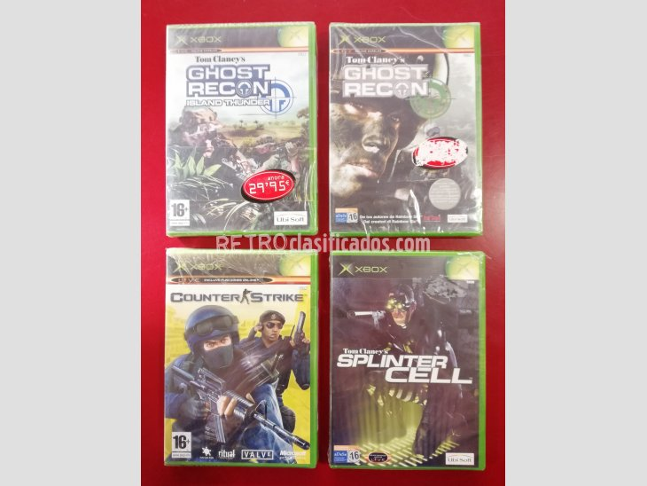 PACK 4 JUEGOS XBOX GHOST RECON+GHOST RECON ISLAND+SPLINTER C 4