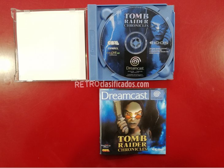 JUEGO TOMB RAIDER CHRONICLES DREAMCAST 1