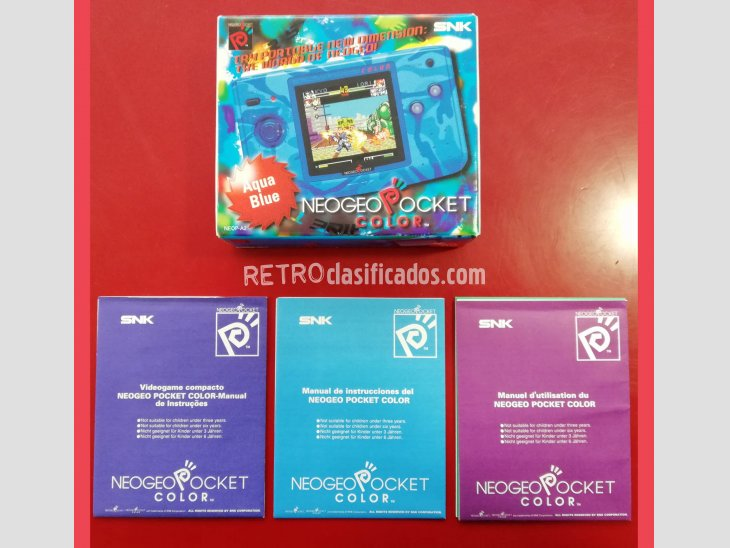 CONSOLA NEO GEO POCKET COLOR AQUA BLUE 2