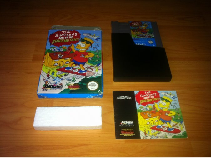 The Simpsons Barts vs Space Mutants Nintendo NES
