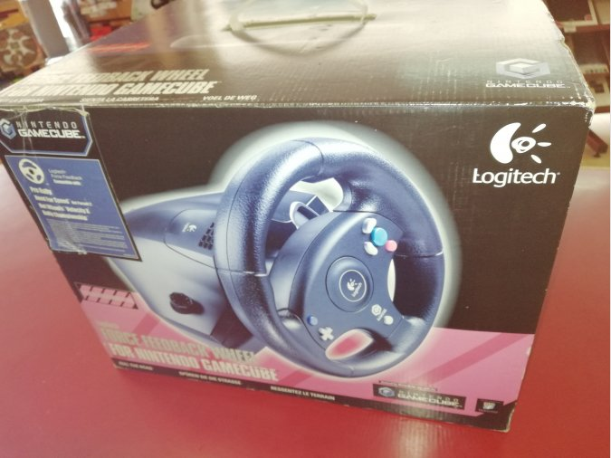 VOLANTE PARA GAMECUBE NUEVO FORCE FEEDBACK WHEEL LOGITECH