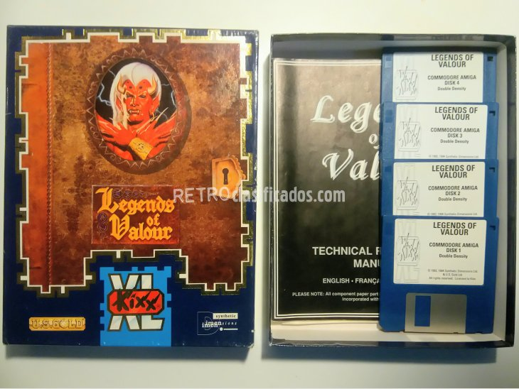 Legends of Valour Commodore Amiga 1