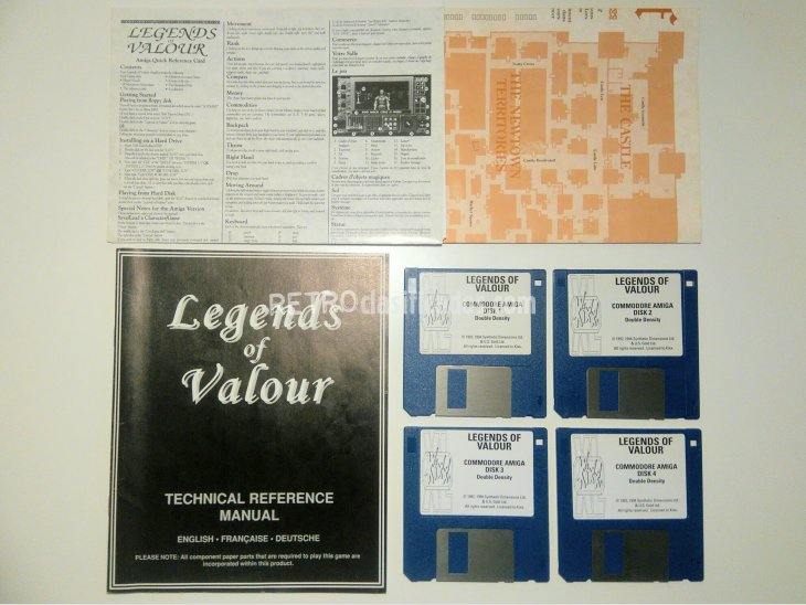 Legends of Valour Commodore Amiga 2