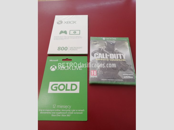 PACK XBOX ONE JUEGO+POINTS+LIVE GOLD PRECINTADO TODO 1