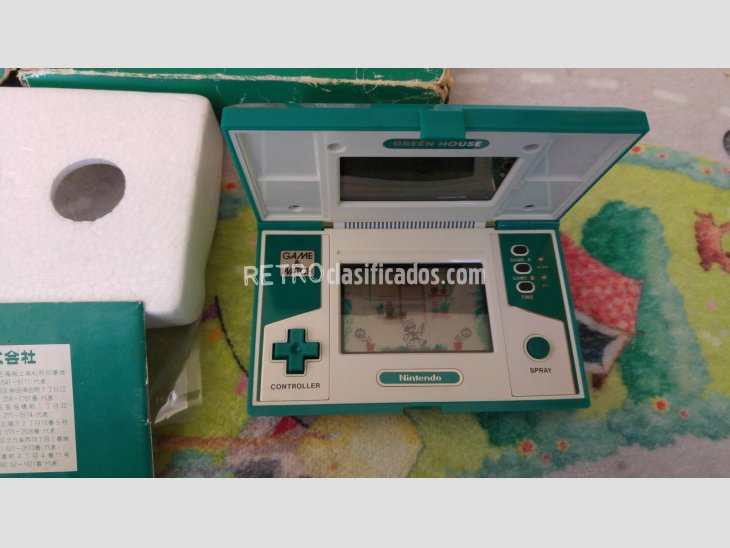nintendo game&watch green house completa 3