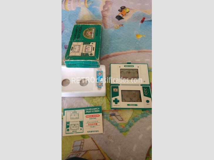 nintendo game&watch green house completa 4