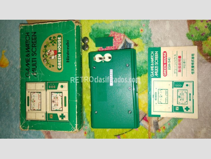 nintendo game&watch green house completa 5