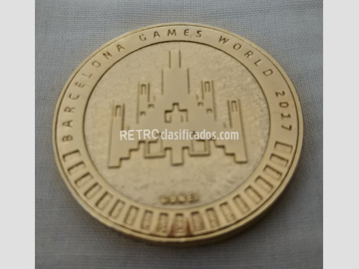Moneda Conmemorativa PAC-MAN Barcelona Games World 2017 3