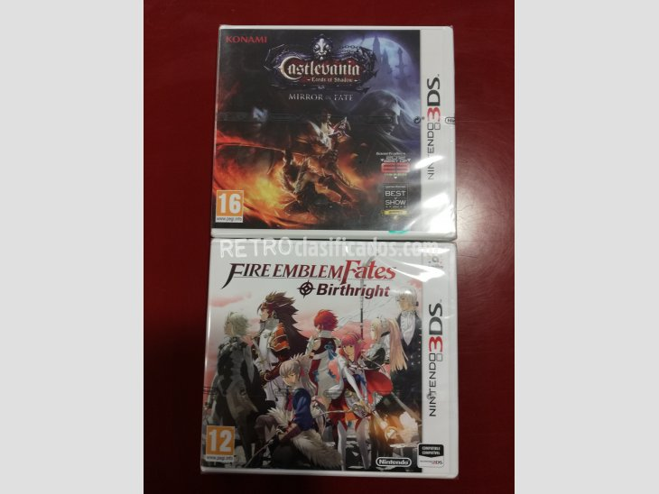 PACK CASTLEVANIA LORDS OF+FIRE EMBLENFATES NUEVOS N3DS 2
