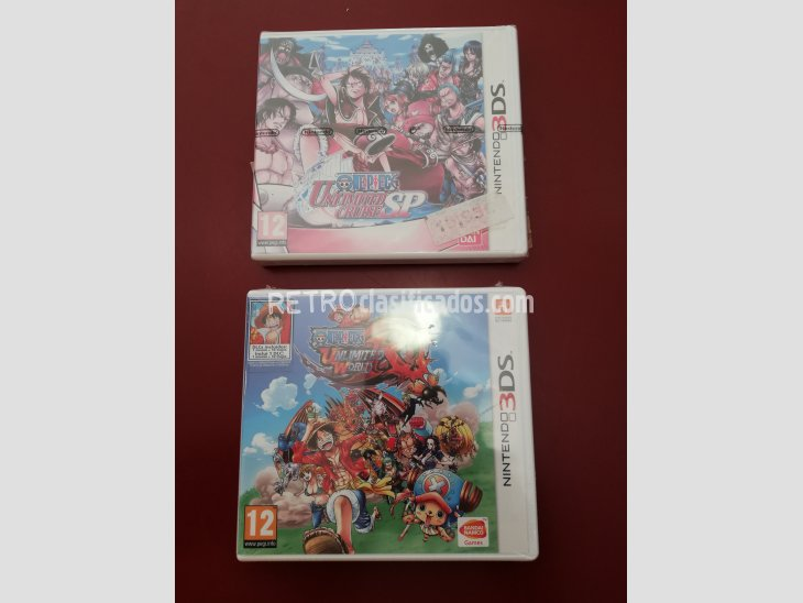 PACK 2 JUEGOS ONE PIECE NINTENDO 3DS PRECINTADOS 2