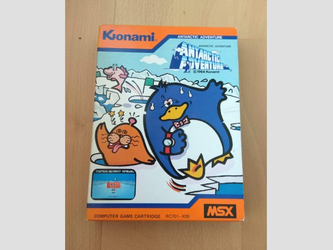 Juego MSX Antarctic Adventure Konami 1984 RC701