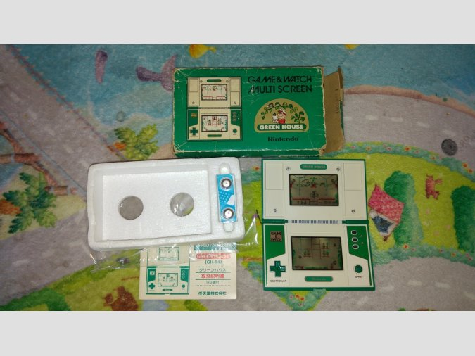 nintendo game&watch green house completa