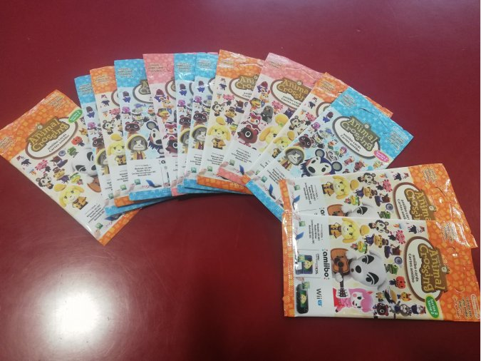 13 PAQUETES DE CROMOS ANIMAL CROSSING AMIIBO NUEVOS