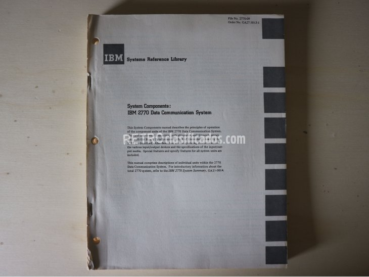 IBM 2701 Data Adapter Unit – Component Description 1