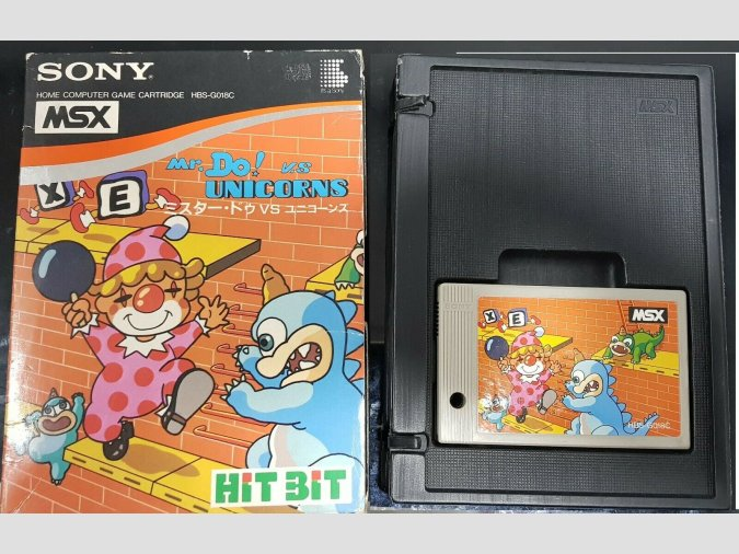 Mr. Do! vs Unicorns MSX Sony Hit Bit 1984 Universal