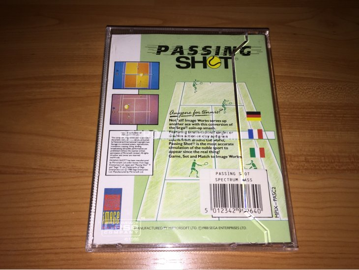 Passing  Shot juego original Spectrum 5