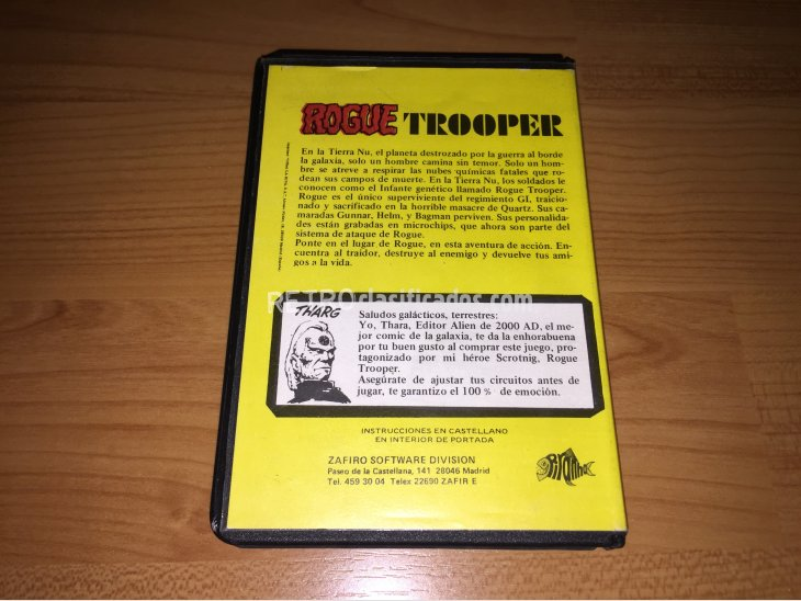 Rogue Trooper juego original Spectrum 5