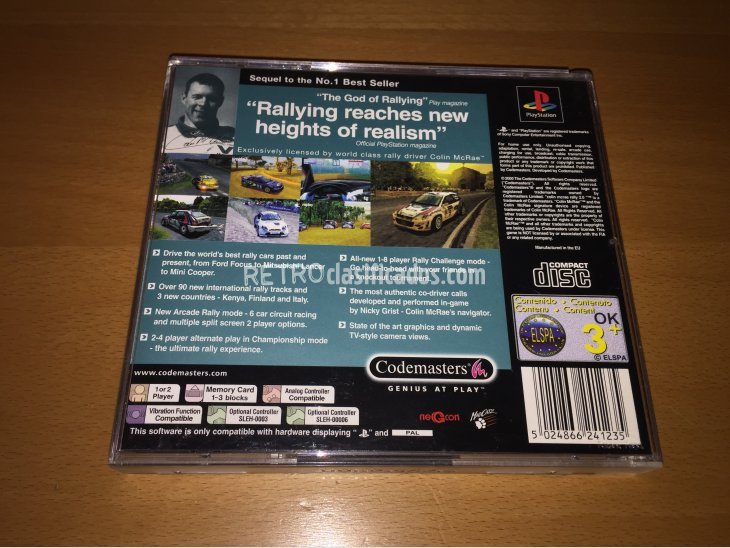 Colin Mcrae Rally 2.0 juego original Play Station 3