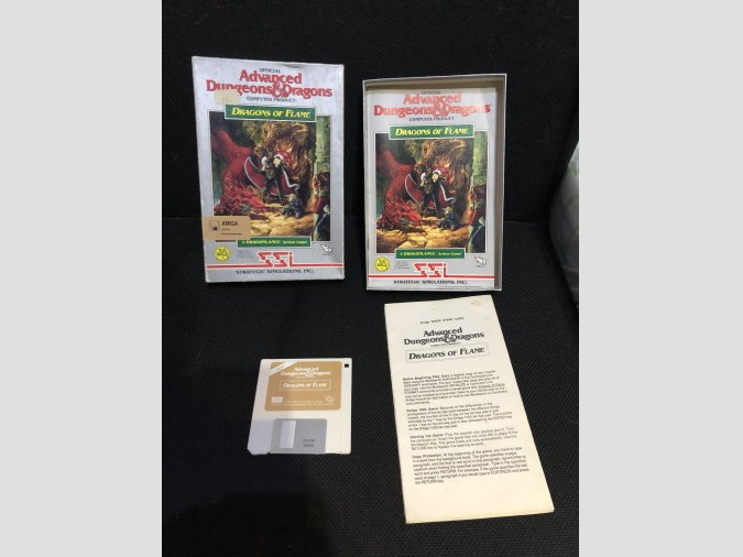 Juego Commodore Amiga Dragons of flame D& D