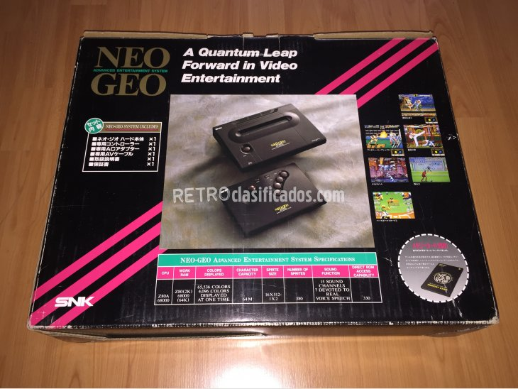 Neo Geo AES SNK console system boxed 3