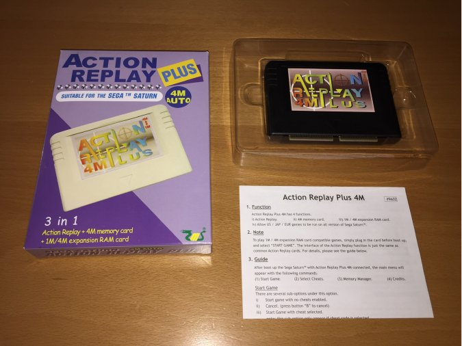 Cartucho Sega Saturn Action Replay Plus