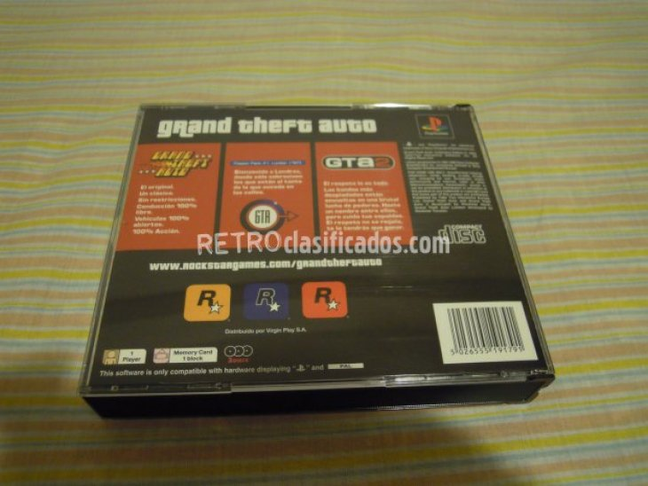 PS1 GRAND THEFT AUTO ED.COLECC. NUEVO 4