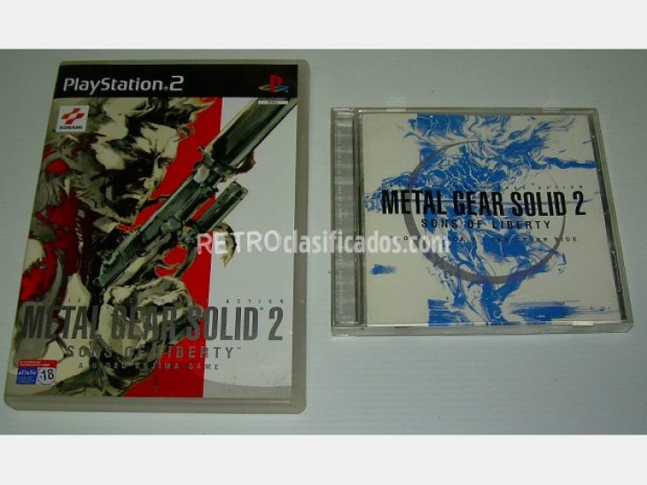 Metal Gear Solid 2 + DVD + BSO/OST 1